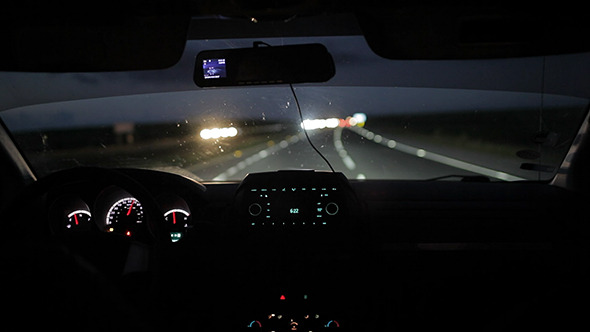 VideoHive Car Driving At Night Or Early Morning 10147953
