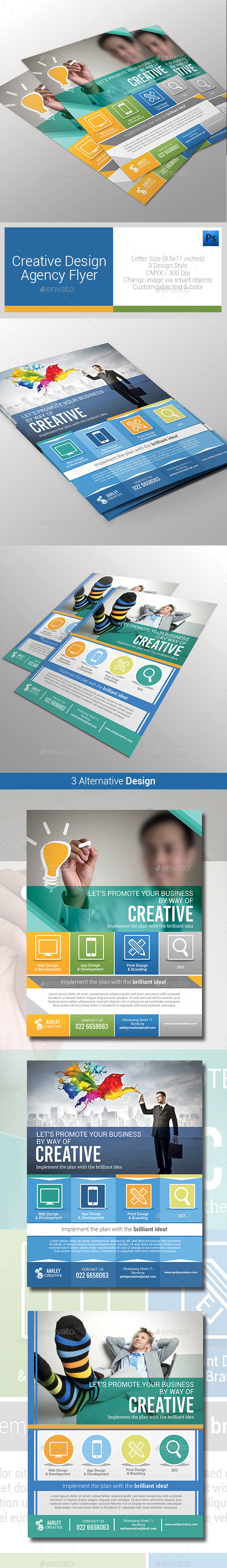 GraphicRiver Creative Design Agency Flyers 10147959