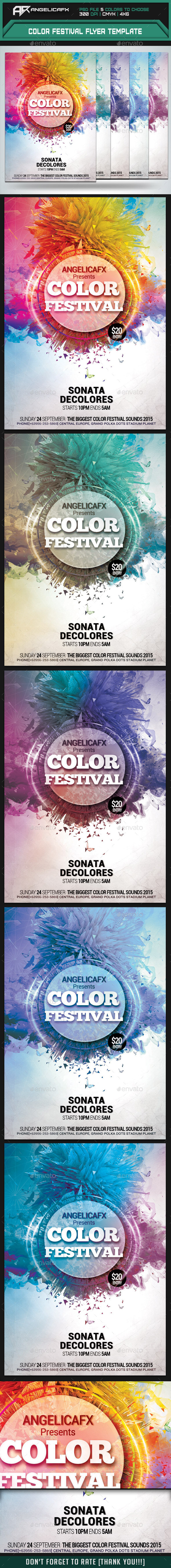 GraphicRiver Color Festival Flyer Template 10147963