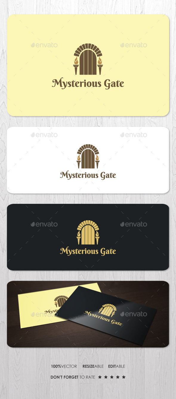 GraphicRiver Mysterious Gate Logo 10147976