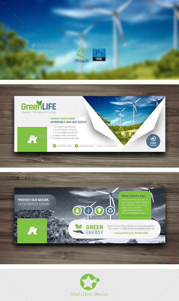 GraphicRiver Green Energy Cover Templates 10147977