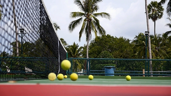 VideoHive Tennis Court with Balls 10147986