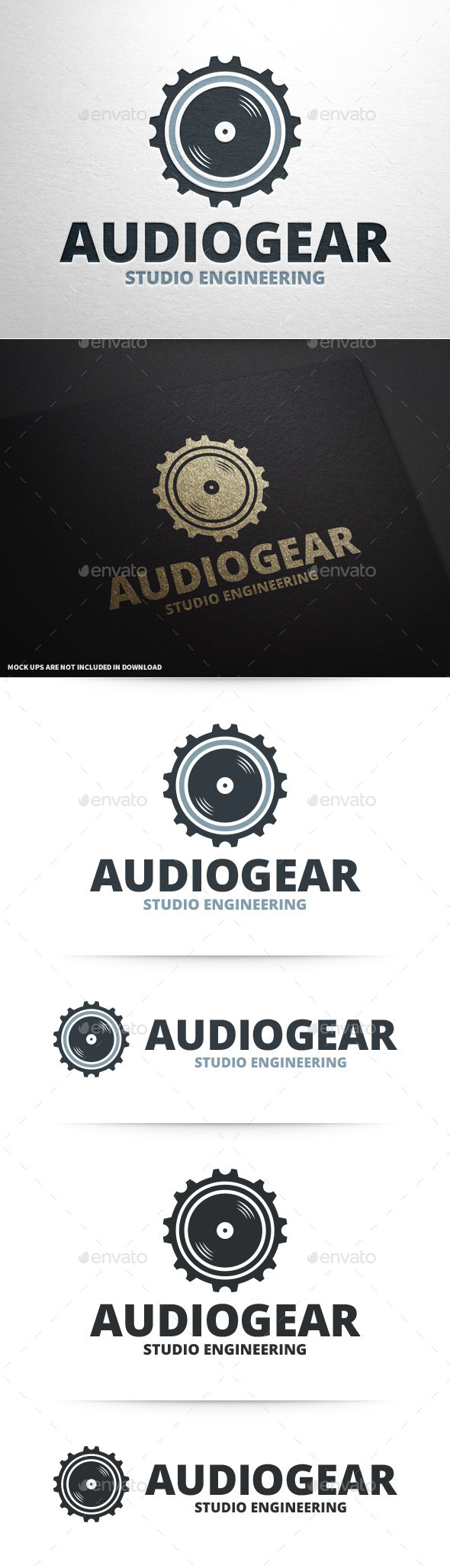 GraphicRiver Audio Gear Logo Template 10148120