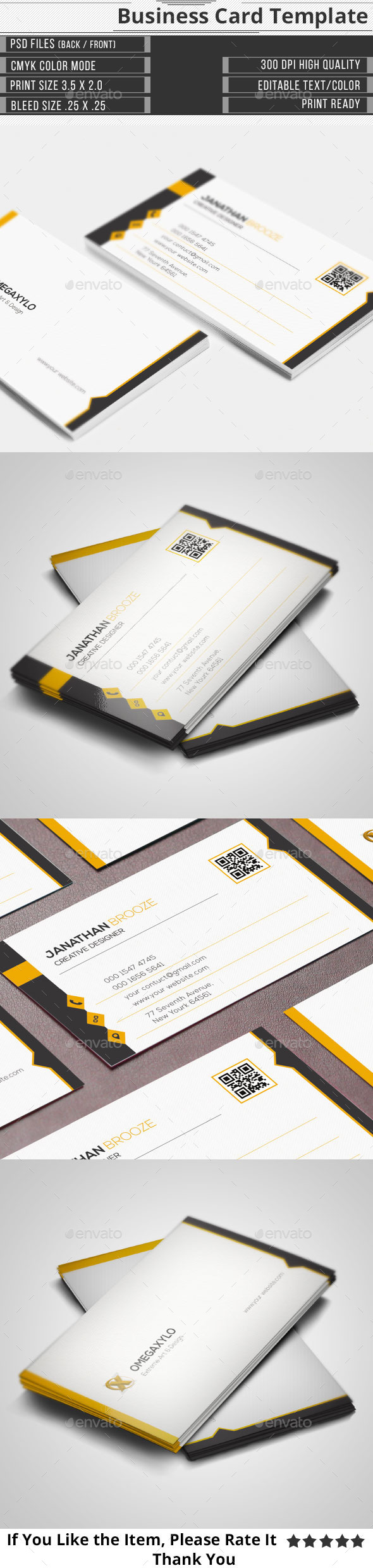 GraphicRiver Clean Creative Corporate Business Card 10148131