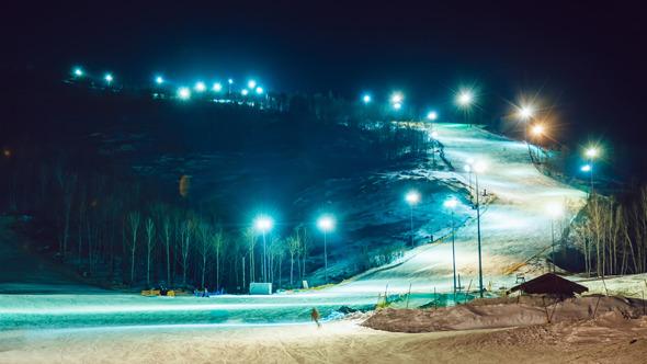 VideoHive Night Skiing Resort 10124113