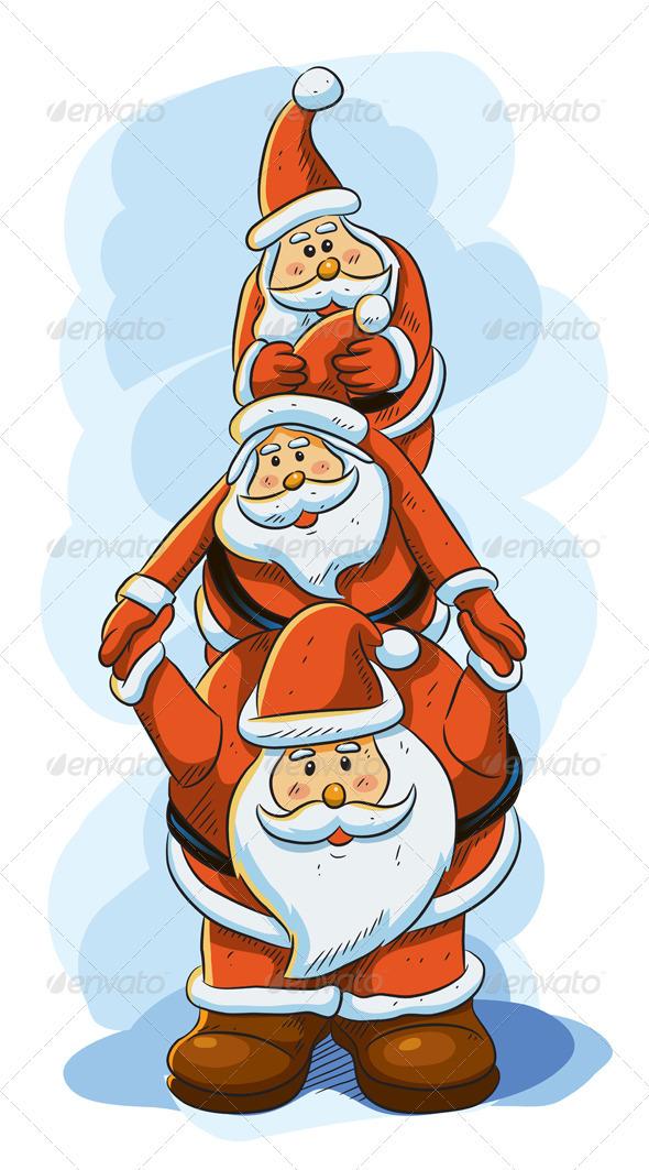 Graphic River Funny Santa Vectors -  Conceptual  Seasons/Holidays  Christmas 1022083