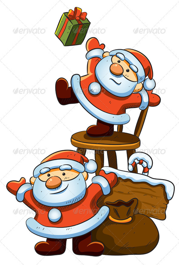 Graphic River Cute Little Santa Vectors -  Conceptual  Seasons/Holidays  Christmas 1022199