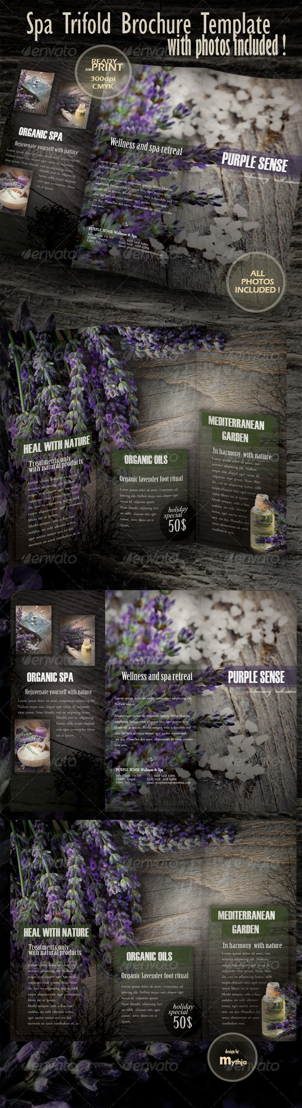 GraphicRiver Spa & Wellness Trifold Brochure 1022201