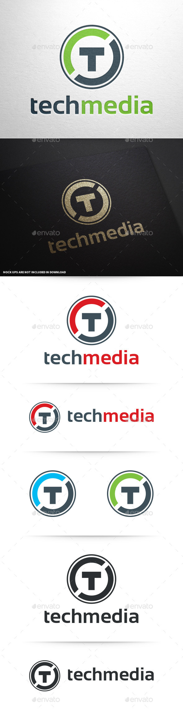 GraphicRiver Tech Media Letter T Logo 10148294