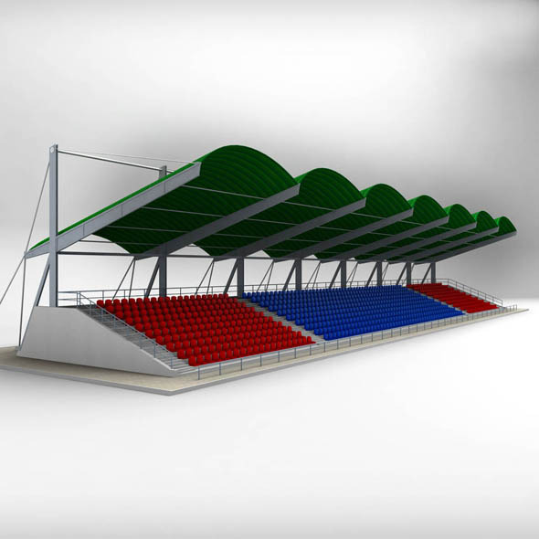 3DOcean Stadium Seating Tribune Canopy 10148359
