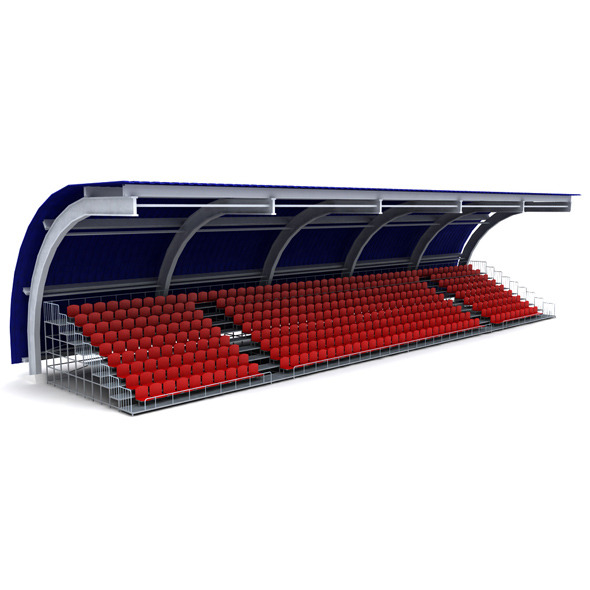 Stadium seating tribune canopy 3 - 3DOcean Item for Sale