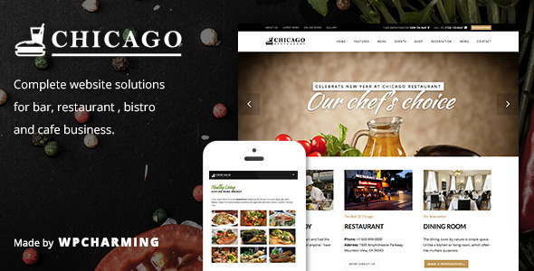 ThemeForest Chicago Restaurant Cafe Bar and Bistro Theme 10069477