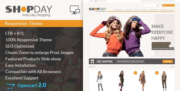 Shopday - Opencart Responsive Theme - Shopping OpenCart