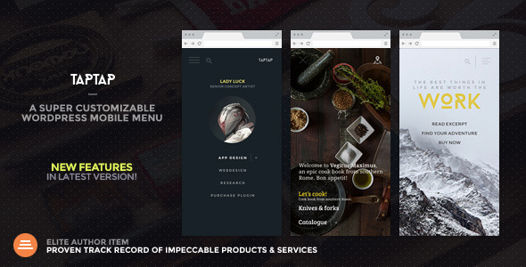TapTap: A Super Customizable WordPress Mobile Menu - CodeCanyon Item for Sale