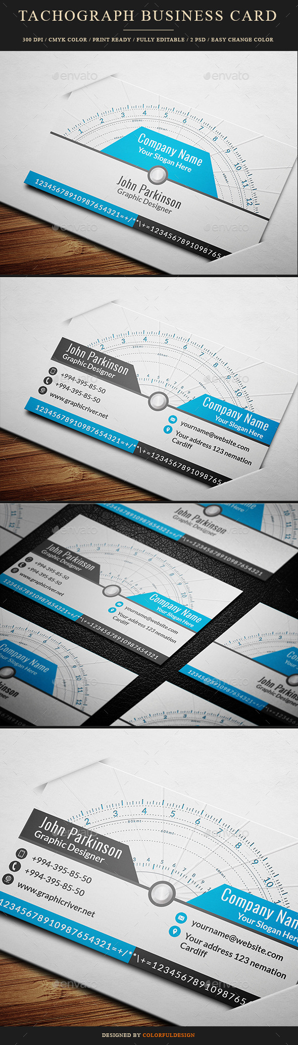 GraphicRiver Tachograph Business Card 10149033