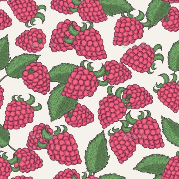 GraphicRiver Raspberry Pattern 10149096
