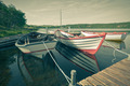 Floating Wooden Boat with Paddles - PhotoDune Item for Sale