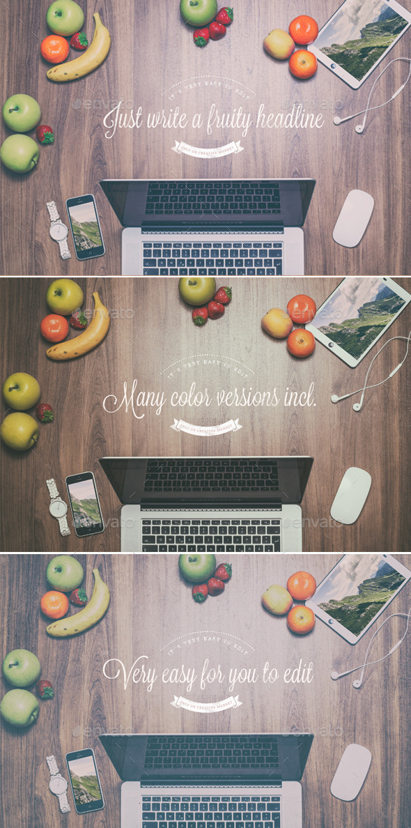 GraphicRiver Fruity Header Images Mock Up 10106655