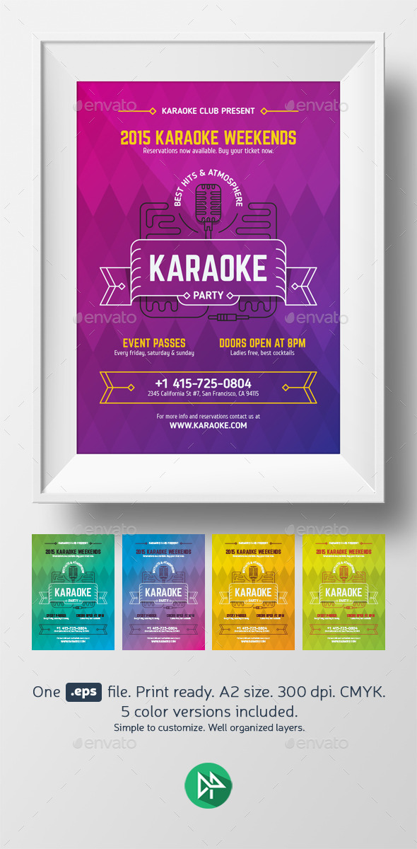 GraphicRiver Karaoke Party Poster Template 10149997