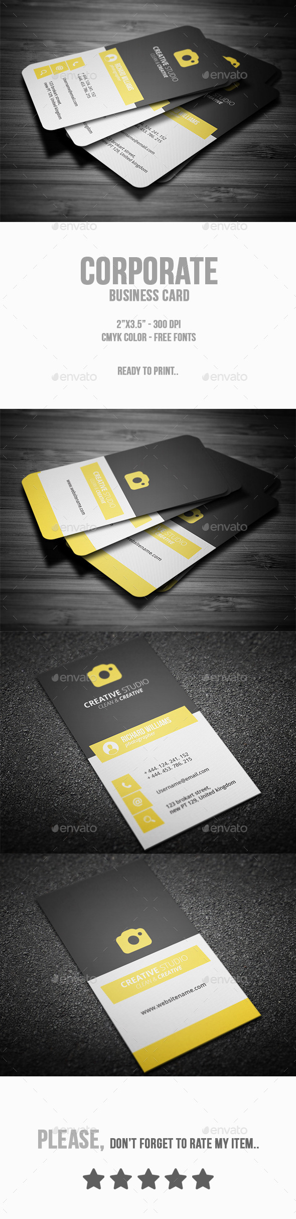 GraphicRiver Corporate Business Card 10150003