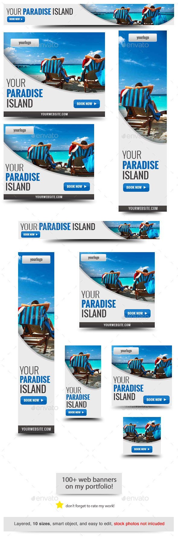 Your Paradise Web Banner Template