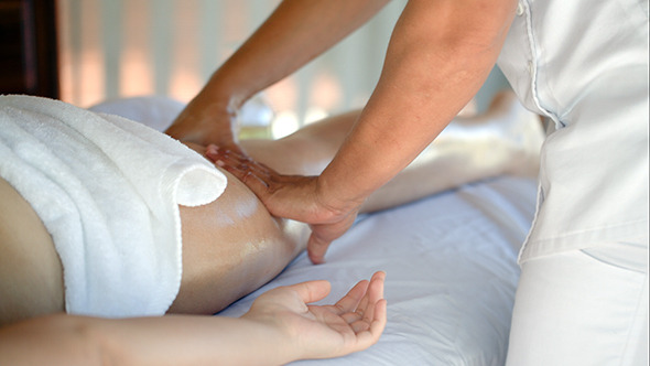 VideoHive Woman Getting Massage Treatment In Beauty Spa 10150110