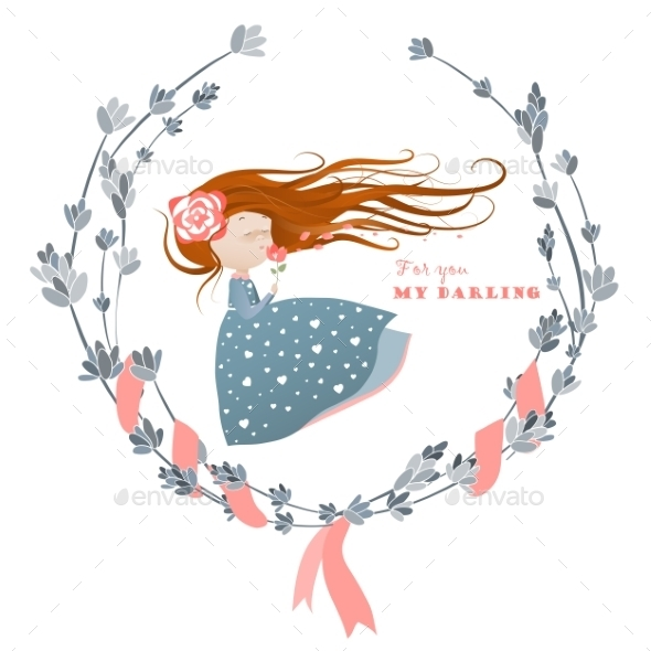 GraphicRiver Girl with Streaming Hair 10150123