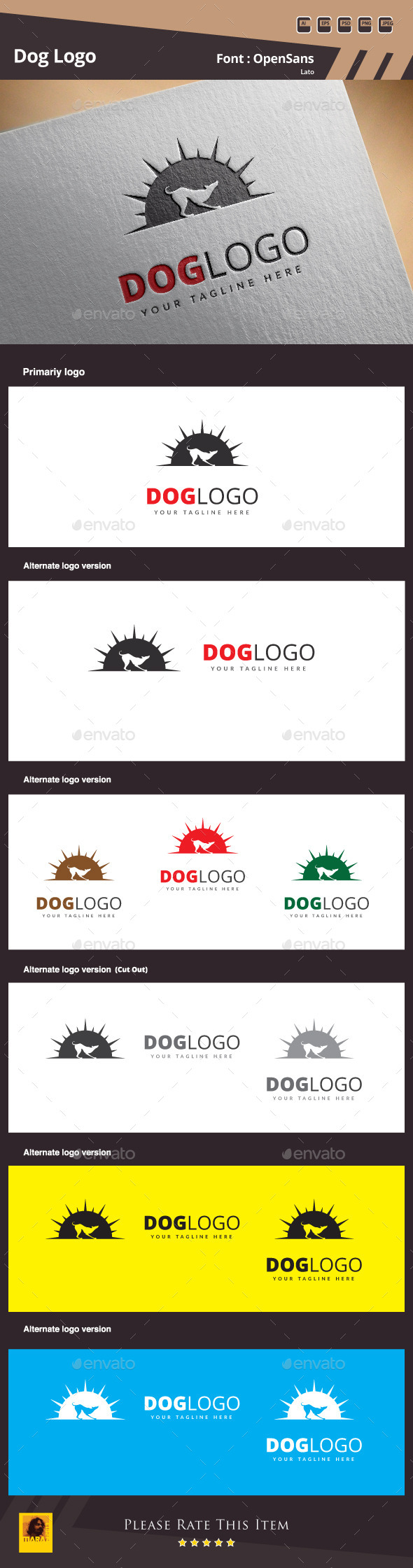 GraphicRiver Dog Logo Template 10150196