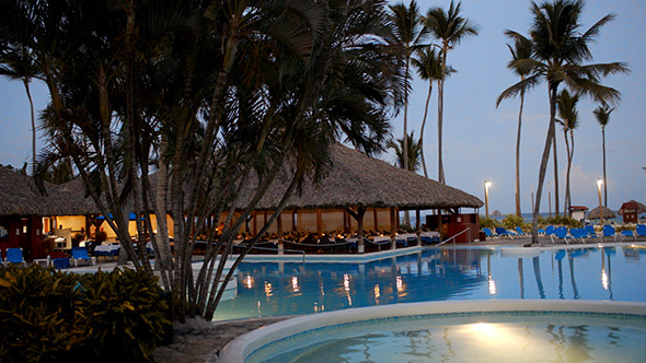 VideoHive Quiet Evening On Tropical Resort 10150231