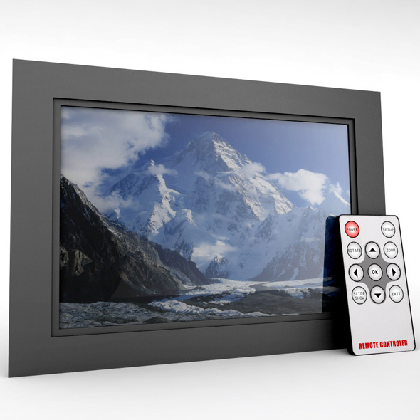 3DOcean Digital picture frame&remote 10150470