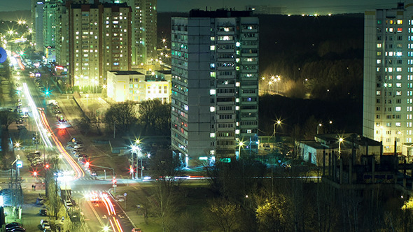 VideoHive Timelapse Of Intense City Life At Night 10151101
