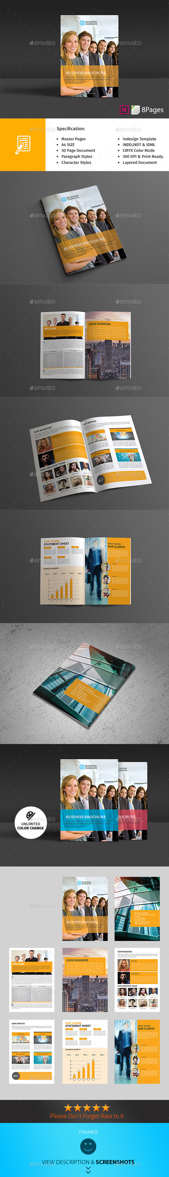 GraphicRiver 8 Page Business Brochure Teamplate 10151571