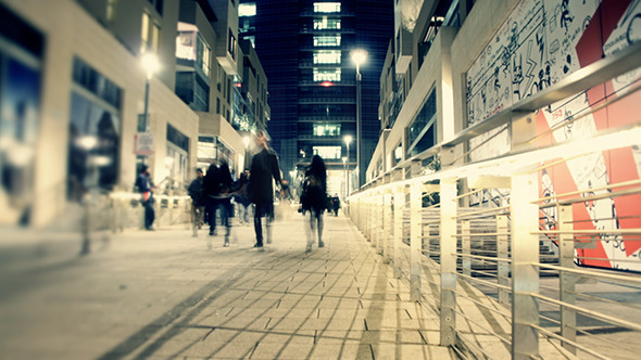 VideoHive Walking in the Modern City by Night 10151735