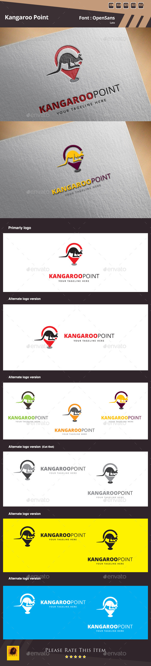 GraphicRiver Kangaroo Point Logo Template 10152137