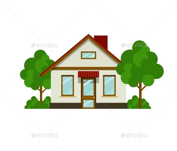 GraphicRiver House with Trees 10152307