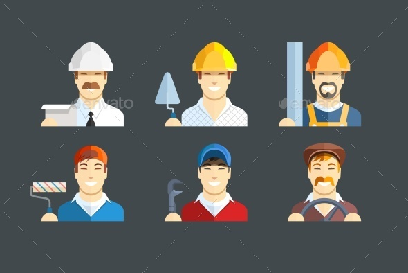 GraphicRiver Building Occupations 10152579