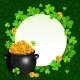 Black Pot of Magic Gold on Clovers Circle - GraphicRiver Item for Sale