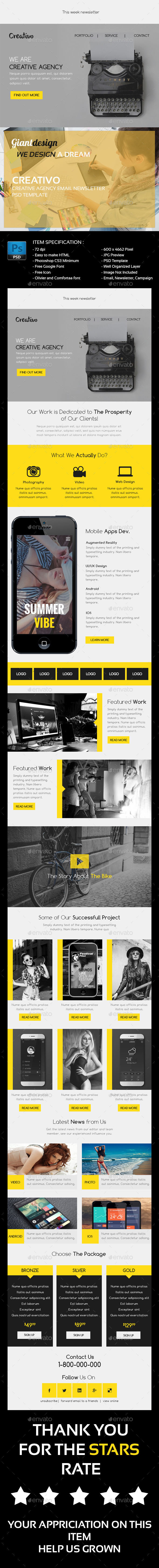 GraphicRiver Creativo Creative Agency Email Newsletter 10120646