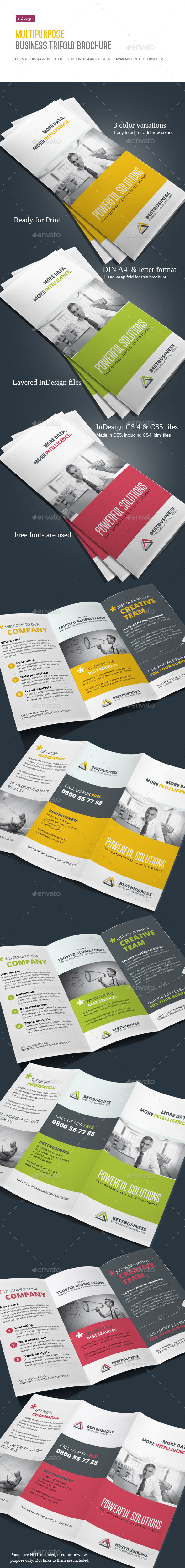 GraphicRiver Business Trifold Brochure Vol III 10153478
