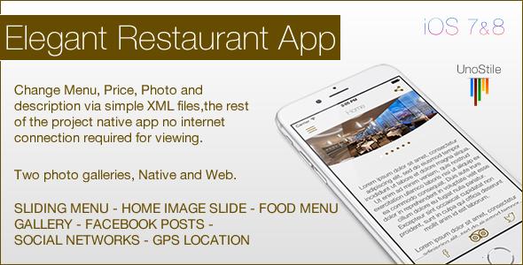CodeCanyon Restaurant IOS Template 10153488