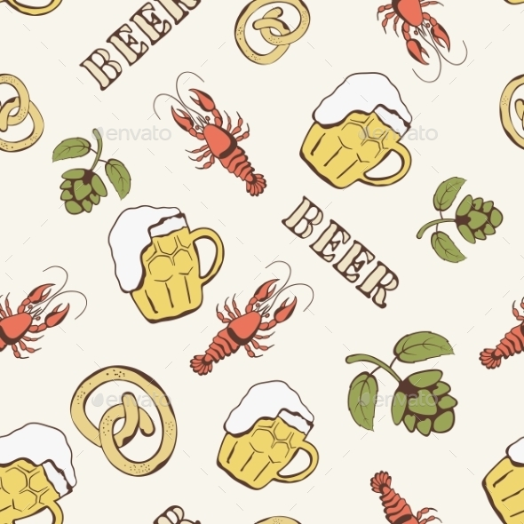 GraphicRiver Beer Pattern 10153722