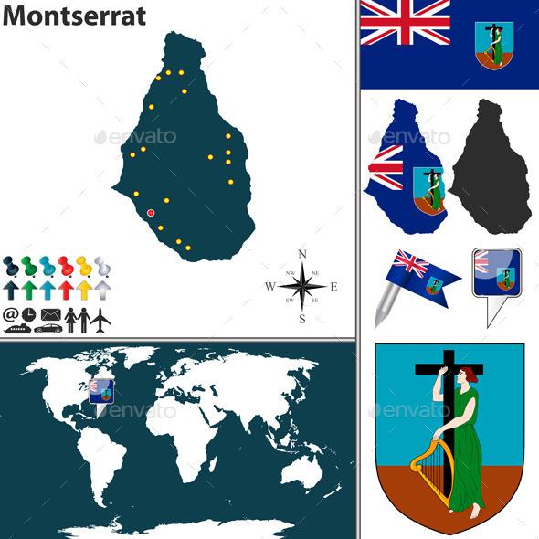 GraphicRiver Map of Montserrat 10154918
