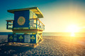 Miami South Beach sunrise, special photographic processing - PhotoDune Item for Sale