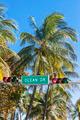 Famous Ocean Drive street sign - PhotoDune Item for Sale