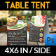 Restaurant and Cafe Table Tent Template Vol7 - GraphicRiver Item for Sale
