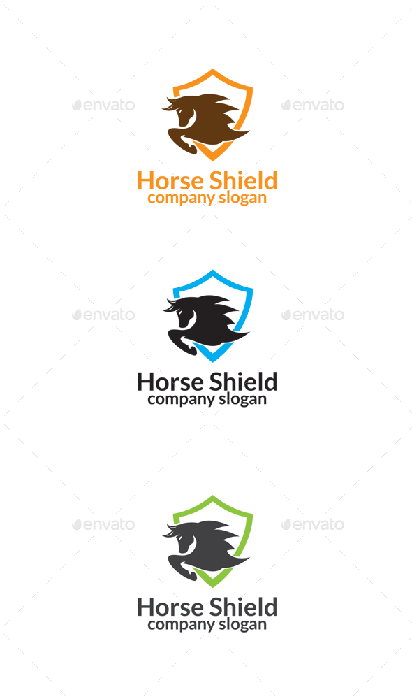 GraphicRiver Horse Shield 10155040