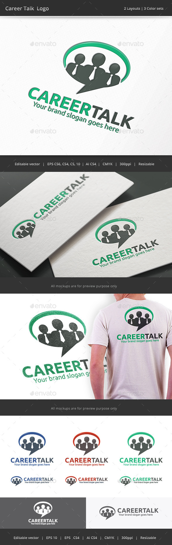 GraphicRiver Career Talk Business Logo 10155066