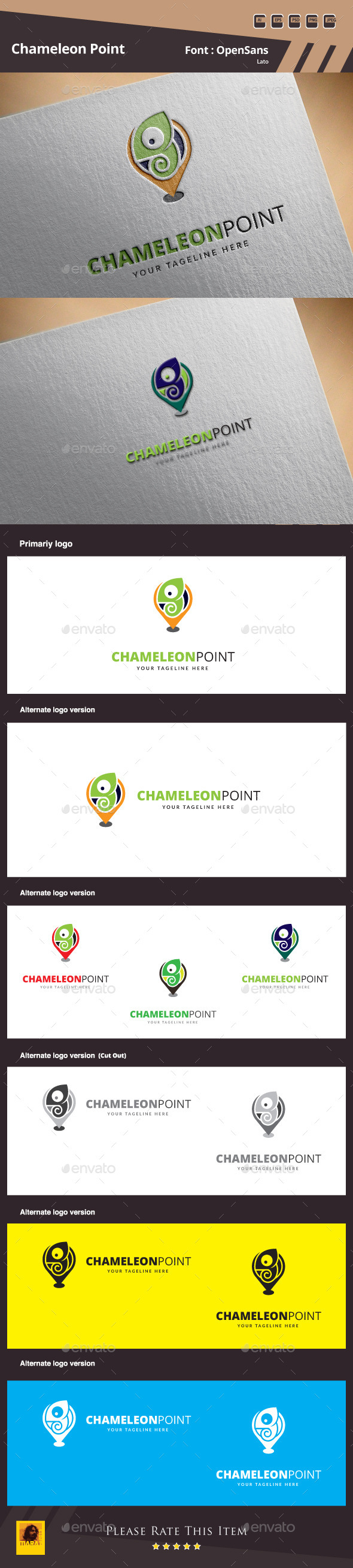 GraphicRiver Chameleon Point Logo Template 10155068