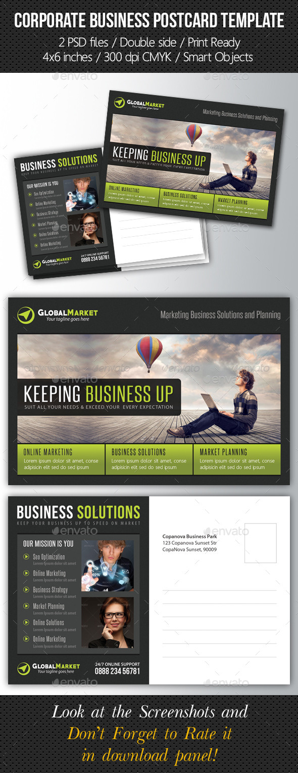 GraphicRiver Corporate Business Postcard Template V02 10155112