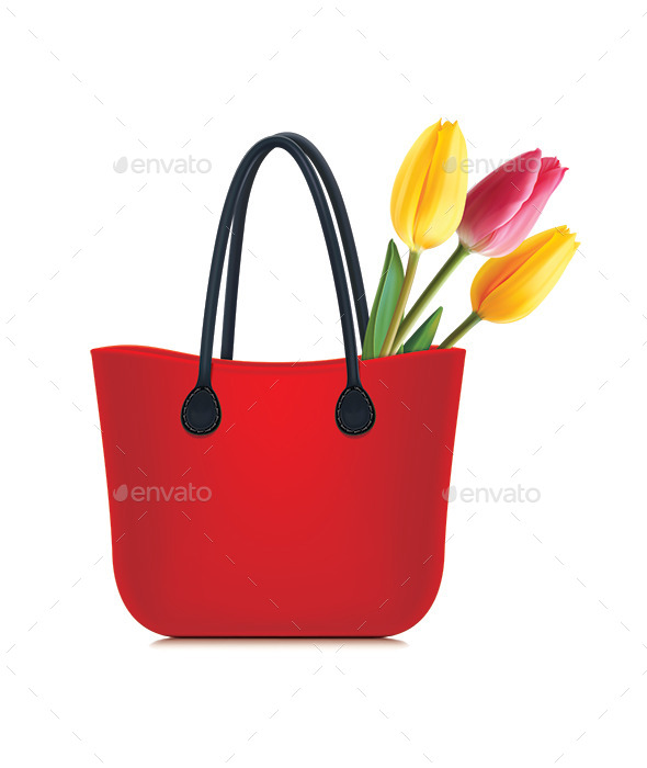 GraphicRiver Tulips in Shopping Bag 10155191